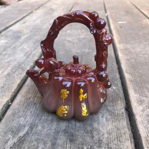 Чайник коричневый меняющий цвет