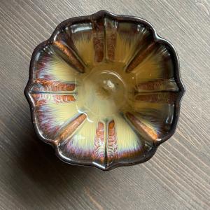"""Пиала """"Золотой Цветок"""" 100 мл, керамика коричневый"""
