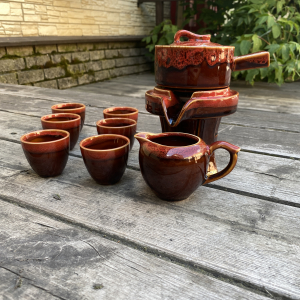 "Чайный Набор ""Водяная мельница"" (Красный)"