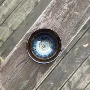 """Пиала """"Голубой Цветок"""" 50 мл, керамика коричневый/голубой"""