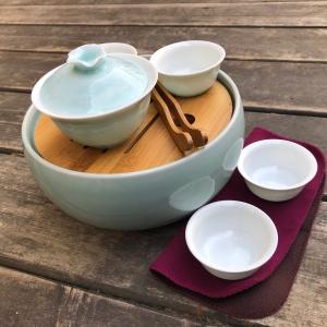 """Набор """"8 предметов для чая"""", голубой"""