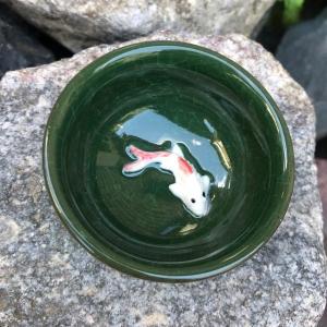 Пиала колотый лёд с рыбкой зеленая