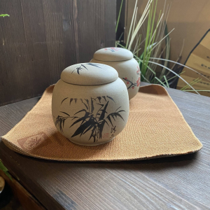 """Чайница """"Бамбук""""  200мл, глина песочный"""