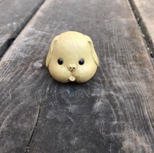 Фэн шуй Веселая собачка желтая