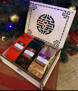 Подарочный набор в фанерной коробке (цвет натуральный)