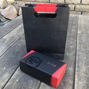 Подарочный набор: сумка (картон)+коробка 19,5*9,5*7 (картон), Цвет красный/черный