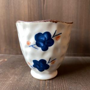 Пиала Серая с синим цветком, керамика