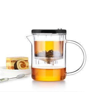 Чайник изипот SamaDoe 350мл, стекло/пластик. Без носика, съемная крышка.